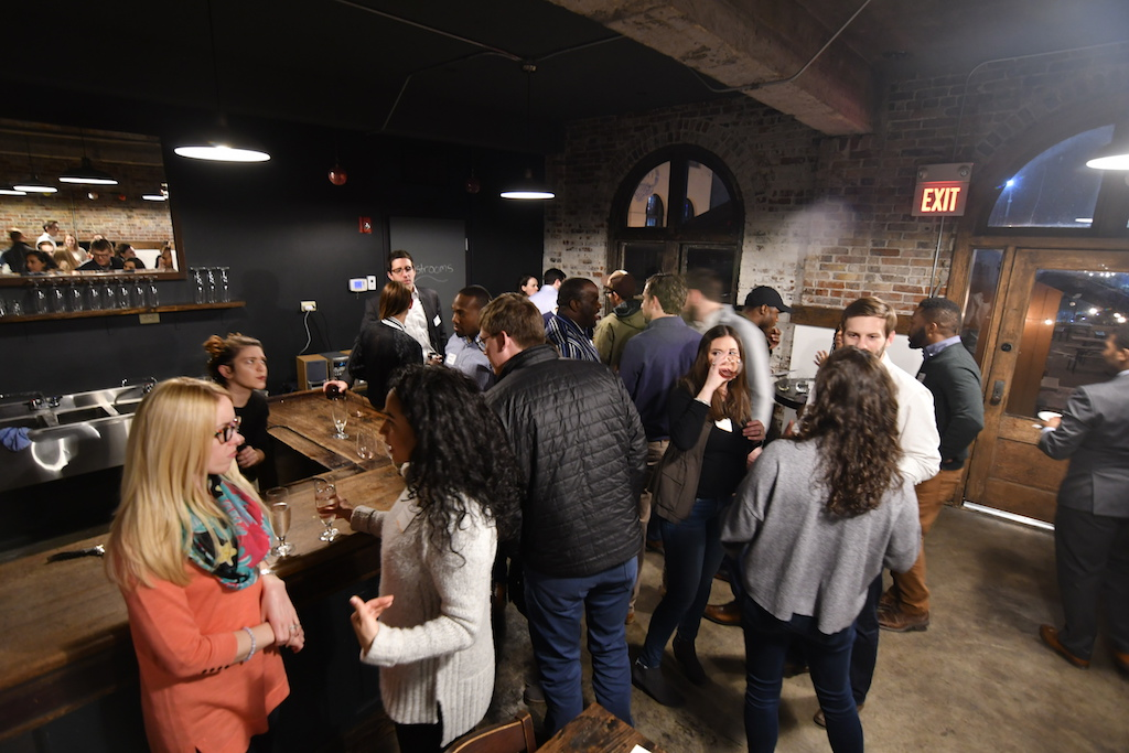 Shot of the Febuary 2018 Young Friend's social at Urban Chestnut.