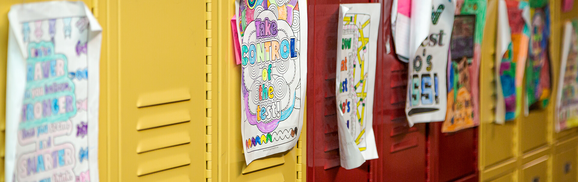 North Side Community School lockers decorated for a new year